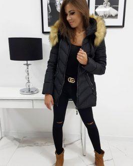 Čierna zimná bunda SILECIA s kapucňou (ty0796)
