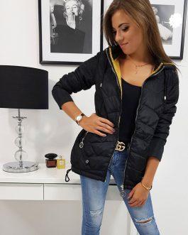 Pohodlná čierna bunda ADELLE (ty0811)