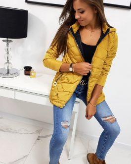 Žltá dámska bunda ADELLE v trendy prevedení (ty0812)