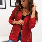 Dámska červená bunda ADELLE (ty0813)