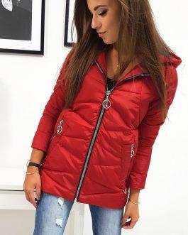 Dámska červená bunda JOLIE (ty0815)