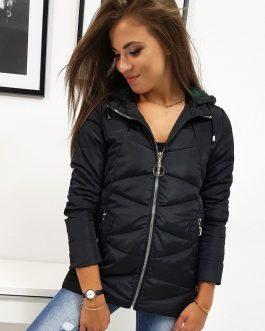 Čierna dámska bunda JOLIE v trendovom prevedení (ty0816)