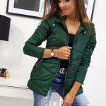 Výrazná zelená dámska bunda JOLIE (ty0817)