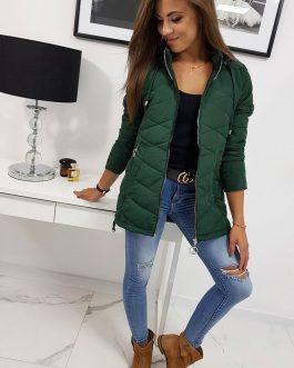 Štýlová zelená dámska bunda PAULLA (ty0821)