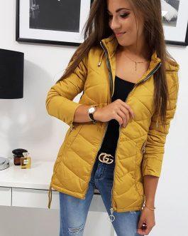 Krásna žltá dámska bunda PAULLA (ty0822)