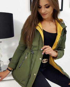 Trendová dámska bunda O'LALA zelenej farby (ty0831)