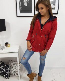 Červená bunda OLIVIA s kapucňou (ty0837)