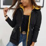 Dvojstranná dámska čierna bunda OLIVIA (ty0838)