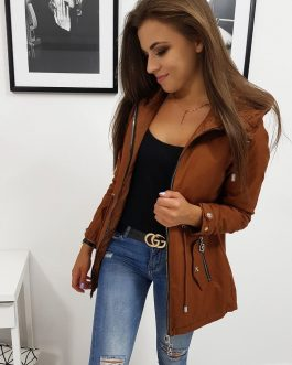 Hnedá dvojstranná bunda pre dámy NATALIE (ty0841)