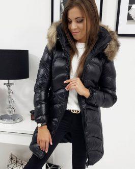 Štýlová čierna zimná bunda LUXURY (ty0898)