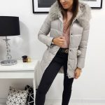 Dámska zimná béžová bunda ELLE (ty0909)