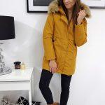 Trendová camelová dámska párka ALASKA s kapucňou (ty0923)