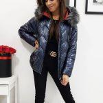 Granátová zimná bunda VENICE s kapucňou (ty0927)
