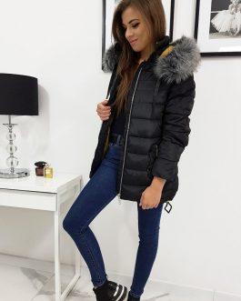 Čierna prešívaná bunda na zimu COLIN (ty0937)