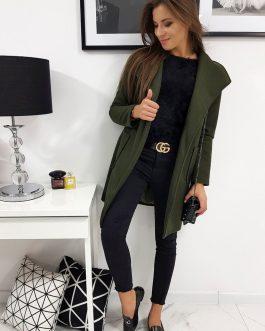 Zelený dámsky kabát KARINNI (ny0266)