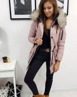 Ružová obojstranná dámska bunda VIPER s kapucňou (ty0945)