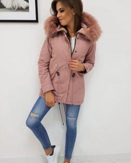 Dámska ružová bunda s kapucňou TROMSSO (ty0434)