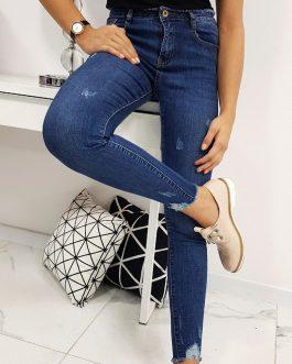 Dámske modré džínsy ESTETICO v módnom prevedení (uy0194)