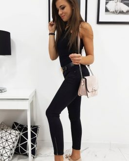 Čierne dámske džínsové nohavice LIBERO (uy0203)
