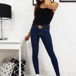 Modré džínsové nohavice FELICIA (uy0204)