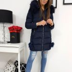 Granátová prešívaná zimná bunda KATEE (ty0983)