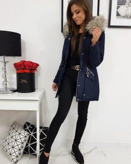 Obojstranná zimná bunda EVITA granátovej farby (ty0990)