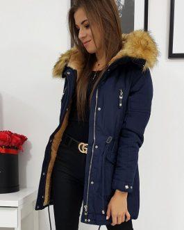 Dámska zimná granátová bunda ELEXA s kapucňou (ty0993)