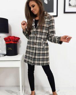 Dámsky károvaný trendy kabát ONLY II (ny0280)