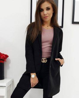 Čierny štýlový dámsky kabát LENE (ny0282)