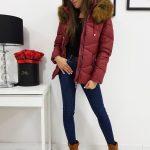 Trendová bordová dámska bunda CARLA (ty1000)