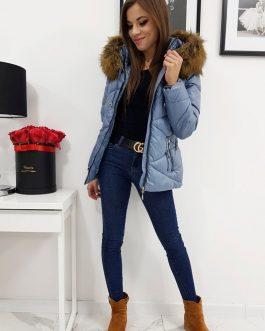 Zimná prešívaná modrá bunda CARLA pre dámy (ty1001)