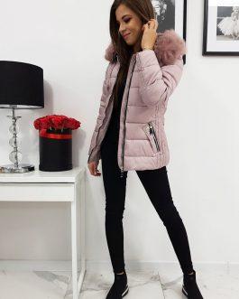 Ružová dámska prešívaná bunda VIP na zimu (ty1008)