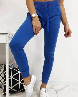 Modré dámske teplákové nohavice (ux1883)