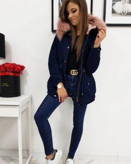 Trendová dámska bunda LOVELLY s kapucňou (ty0410)
