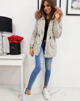 Svetlo-sivá dámska zimná bunda LOVELLY (ty0412)