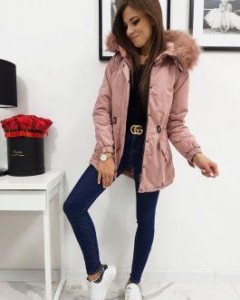 Ružová dámska zimná bunda LOVELLY (ty0476)