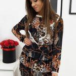 Dámske šaty LEO v krásnom leoparďom vzore (ey0987)