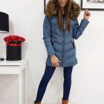 Modrá štýlová dámska bunda MAITE (ty0281)