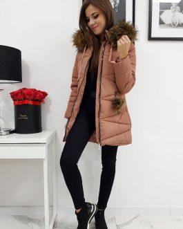 Krásna ružová zimná bunda MILLO pre dámy (ty0429)
