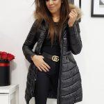 Čierna prešívaná dámska bunda ESTELLA (ty1025)