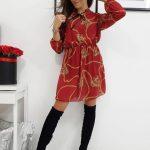 Bordové jemne priesvitné šaty QUEEN (ey0722)