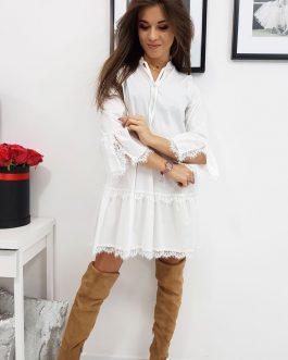 Dámske biele štýlové šaty CATIE (ey0756)