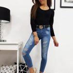 Jedinečné dámske džínsové nohavice RELAX (uy0144)