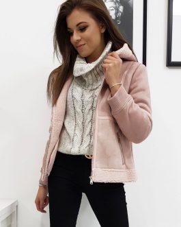 Krásna ružová bunda na zimu MELLO I (ty1027)