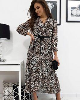 Dámske šaty MONACO so štýlovým vzorom (ey1016)