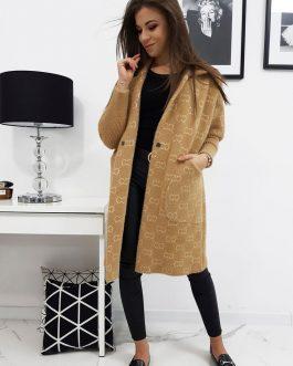 Béžový dámsky kabát ELEGANCE II (ny0299)