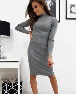 Dámske šaty SEPHIA svetlo-sivej farby (ey1030)