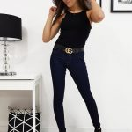 Granátové dámske džínsy EVELINE (uy0211)