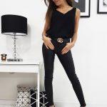 Dámské čierne voskované nohavice EDEN (uy0212)