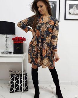 Čierne dámske šaty EMILIE v módnom prevedení (ey1046)